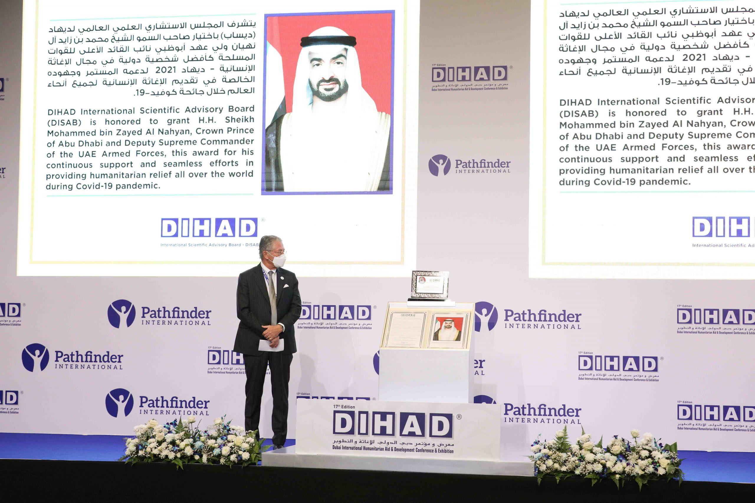 Sheikh Mohamed gets award for humanitarian aid efforts
