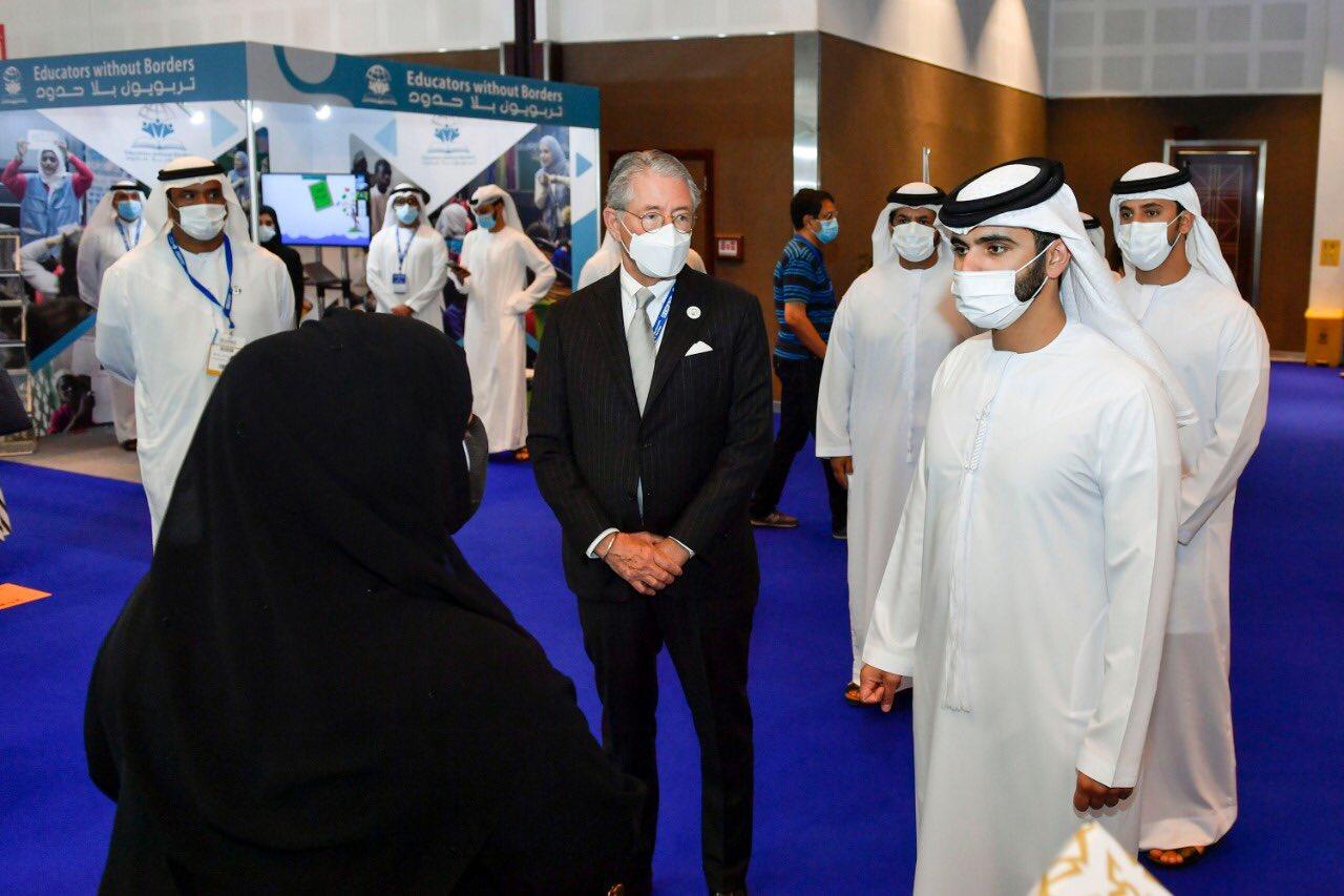H.H. Sheikh Mansour bin Mohammed bin Rashid Al Maktoum tours DIHAD 2021